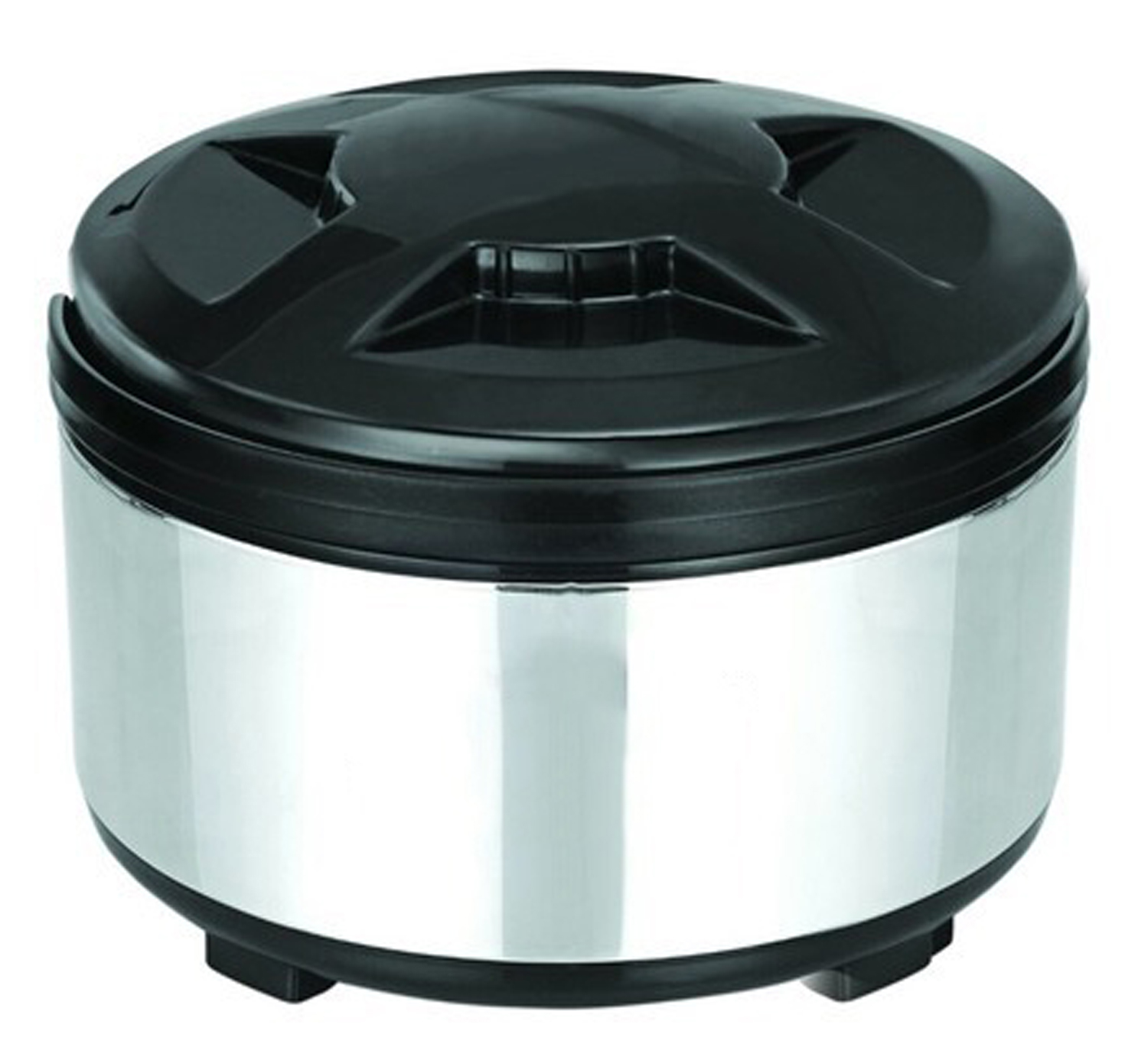 Kuber Industries Stainless Steel Insulated Casserole/Hotpot 1800 Ml (Silver & Black)
