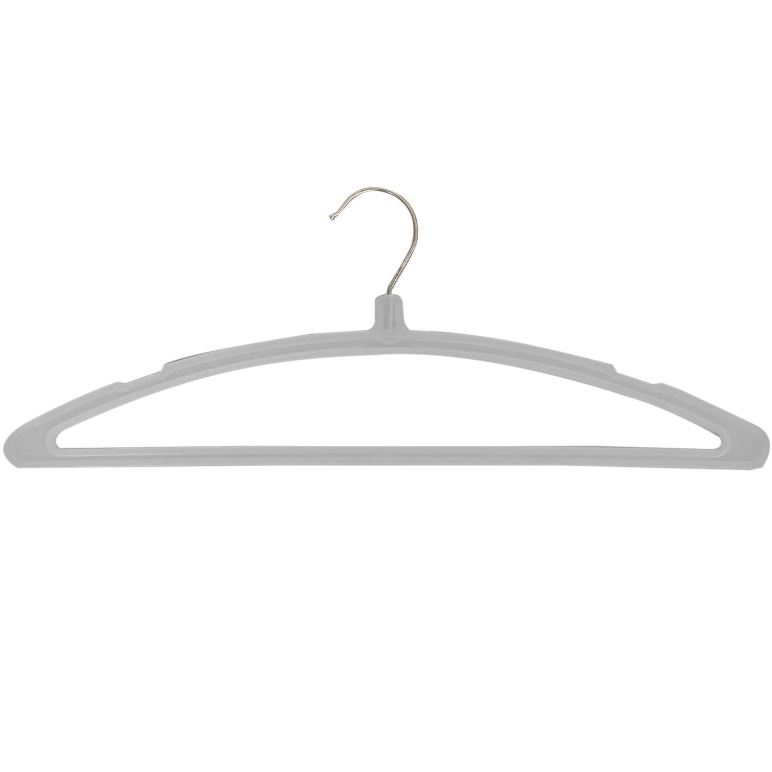 Kuber Industries Plastic Hanger For Suit,Cloth Set of 6 Pcs,Grey
