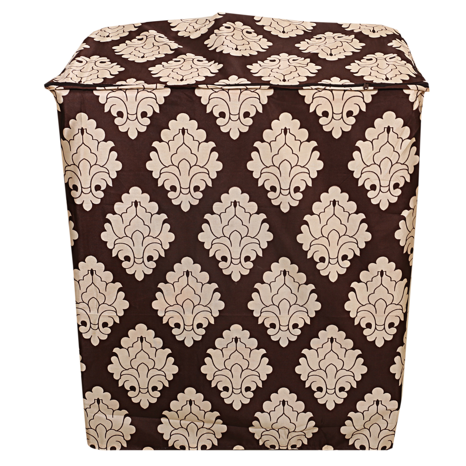 Kuber Industries Fabric Top Load Semi Automatic Washing Machine Cover (Brown)