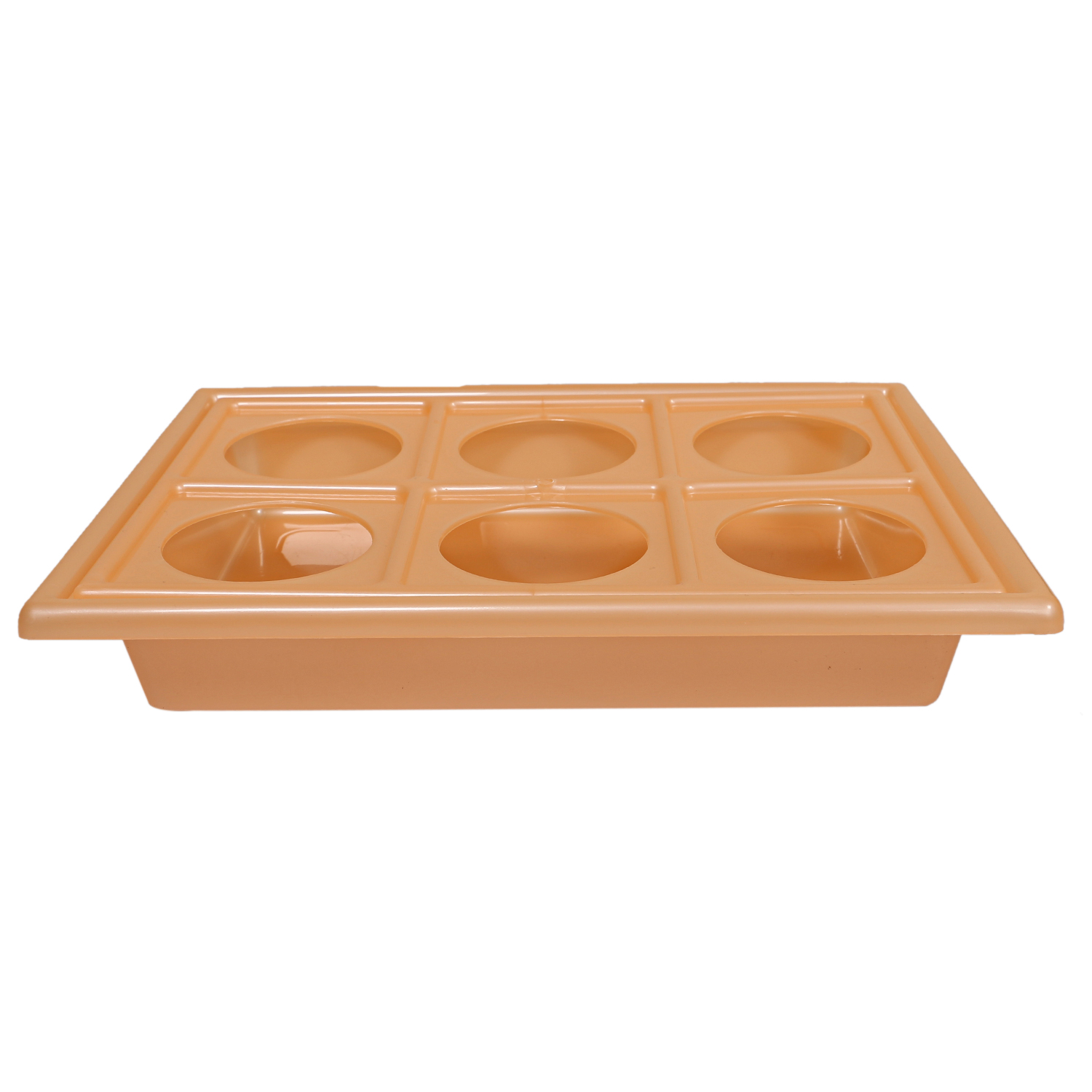 Kuber Industries Plastic Glass Holder Multipurpose Tray (Orange)-CTKTC1909