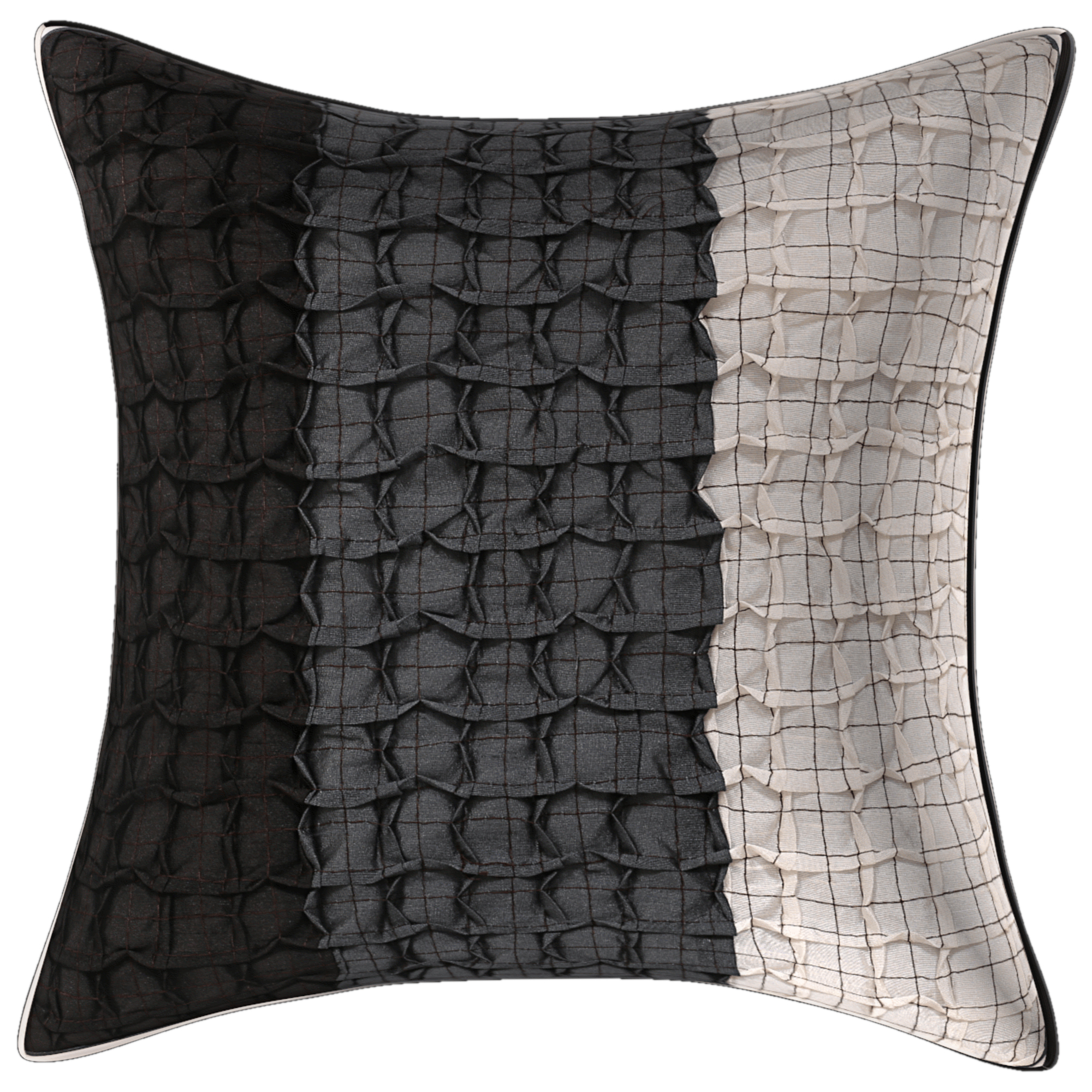 Kuber Industries Cotton 5 Pieces Cushion Cover (Grey)