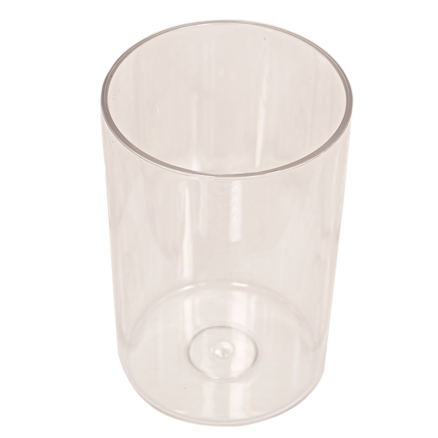 Kuber Industries Plastic Unbreakable Transparent Drinking Glass set of 18 Pcs