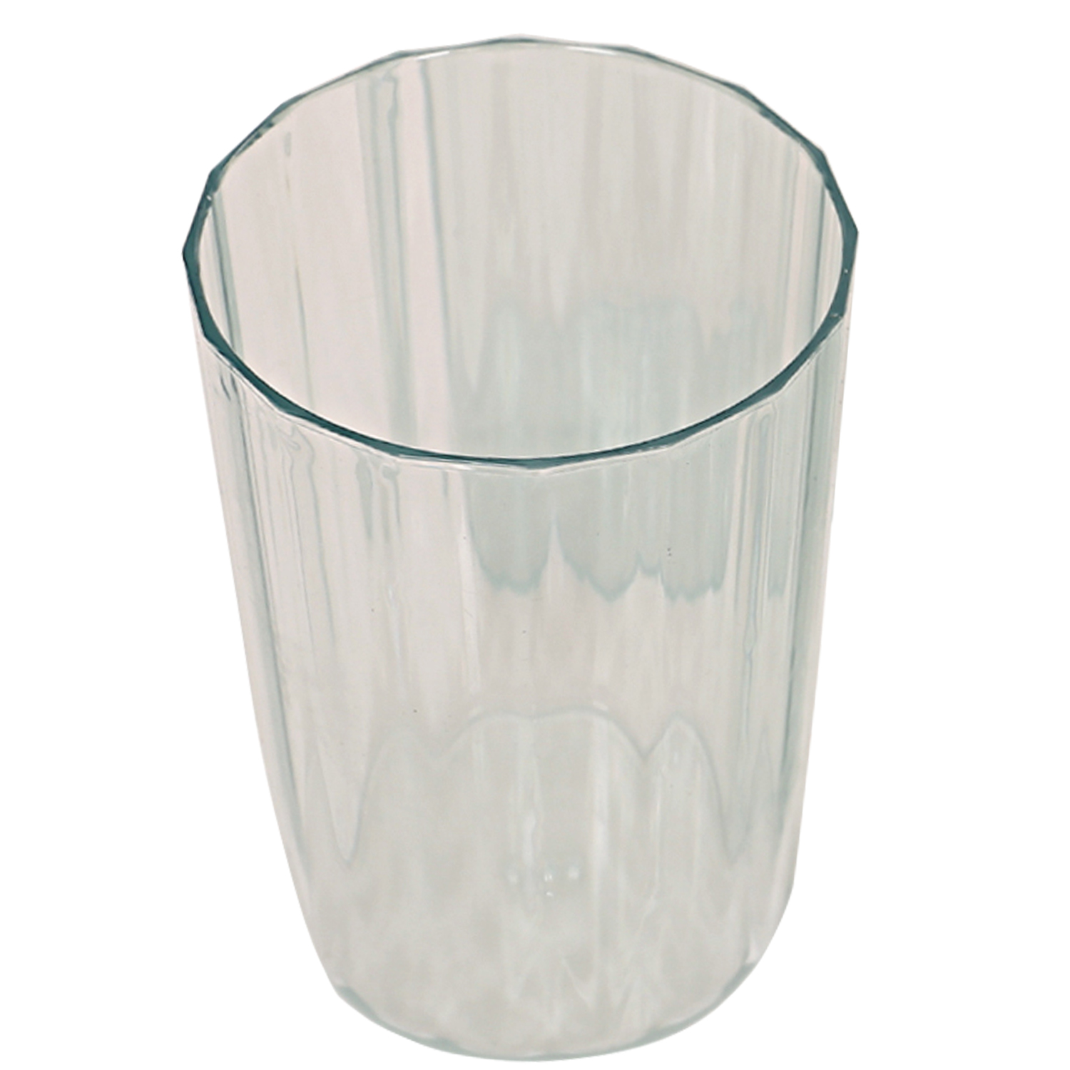 Kuber Industries Plastic Unbreakable Transparent Drinking Glass set of 24 Pcs
