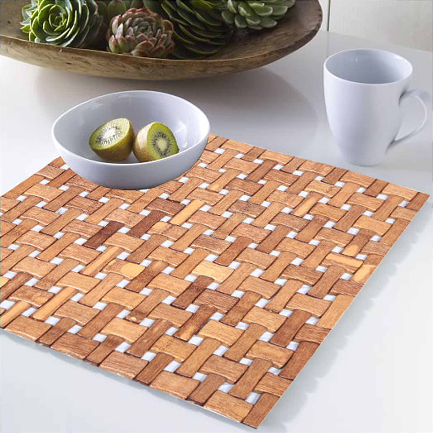 Kuber Industries 3 Pieces Dining Table Placemat (Brown) -CTKTC5206