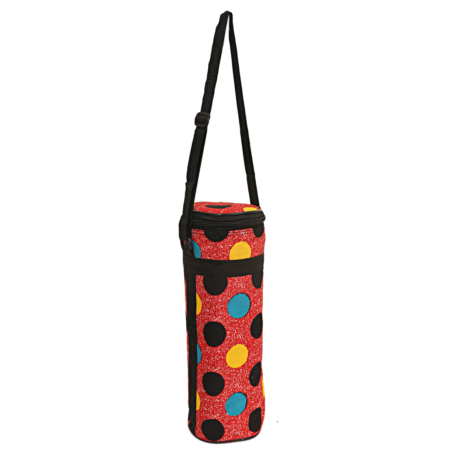 Kuber Industries Canvas 1 Ltr Water Bottle Cover (Red) Set of 1 Pc