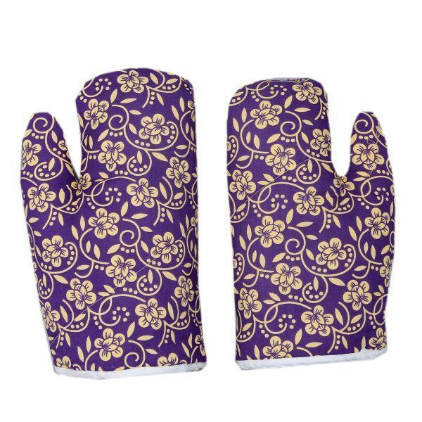 """Kuber Industriesâ""¢ Cotton Microwave Oven Gloves 18 X 32 CM (Set of 2) ""(Color & Print Might Vary According To Availability)"
