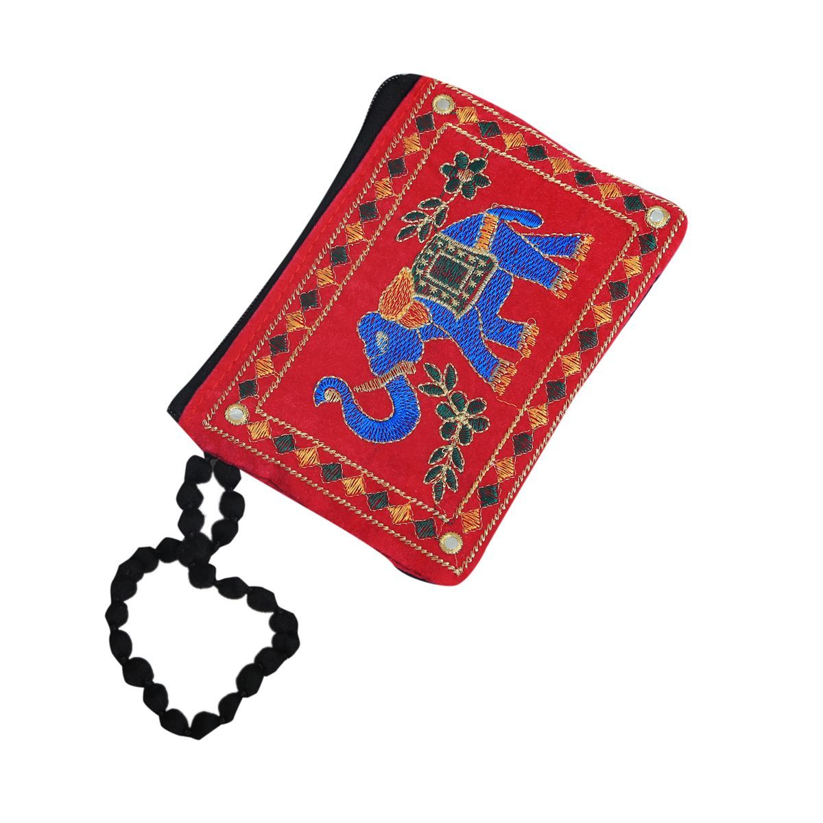 Kuber Industries™ Designer Mobile-Phone Pouch Cover With Hand Dori For Women: Rich Embroidery In Traditional Indian Style (Setof 3) - BG71