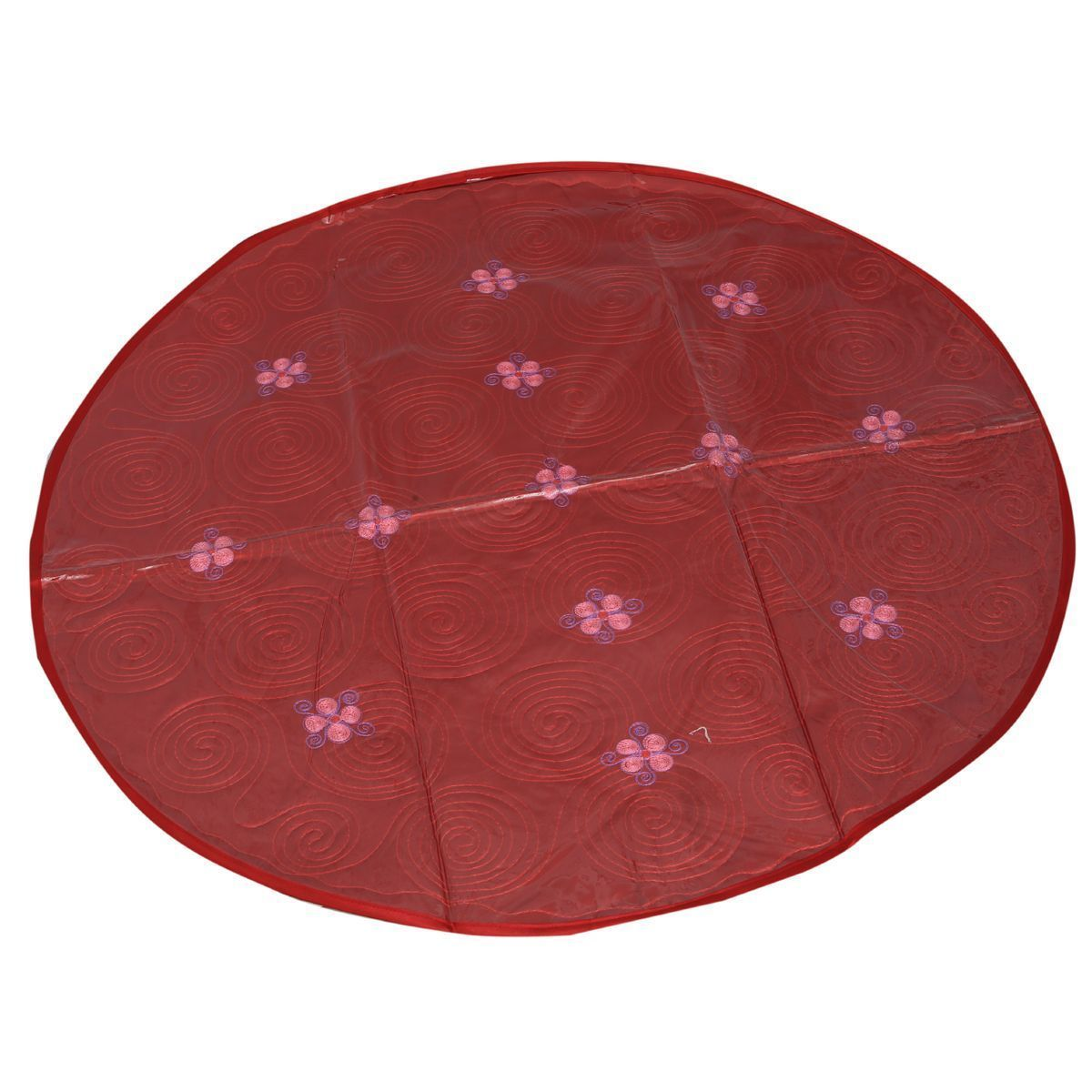"Kuber Industriesâ""¢ Designer Food Mat/ Bed Server Quilted Satin Material (Maroon) (Exclusive Design) KI19377"