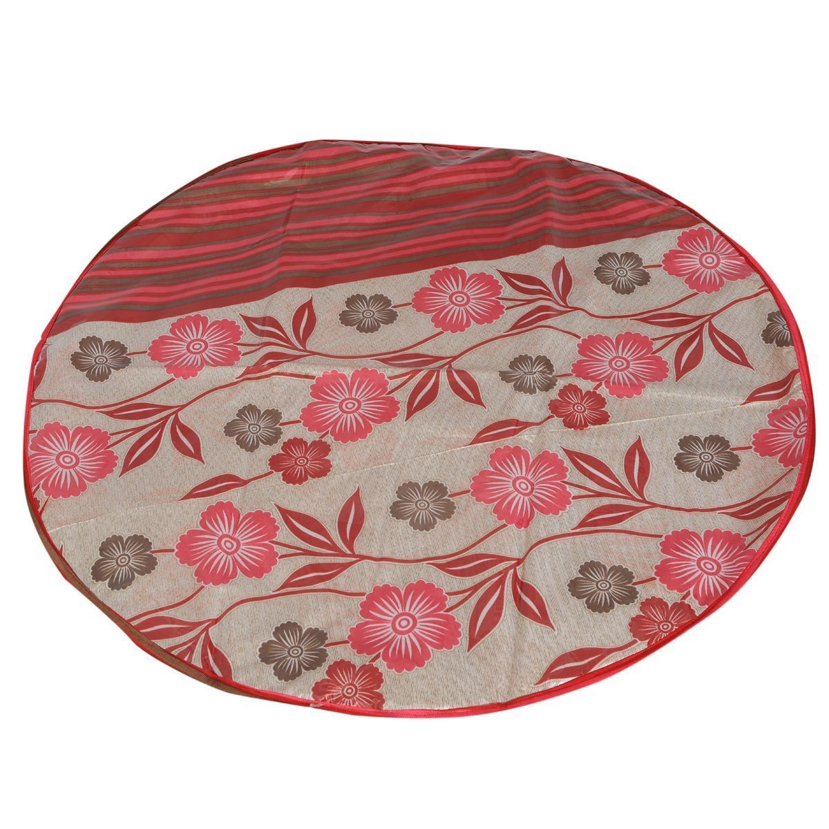 "Kuber Industriesâ""¢ Designer Food Mat/ Bed Server Printed Transparent Nitting Material (Exclusive Design) Color & print Might Be Vary As Per Availability KI19376"