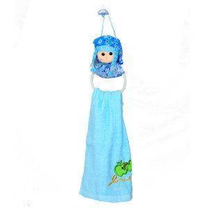 "Kuber Industriesâ""¢ Cute Toy Doll Washbasin Hand Towel For Kitchen & Bathroom,Multipurpose Towel (Assorted) - KI19578"
