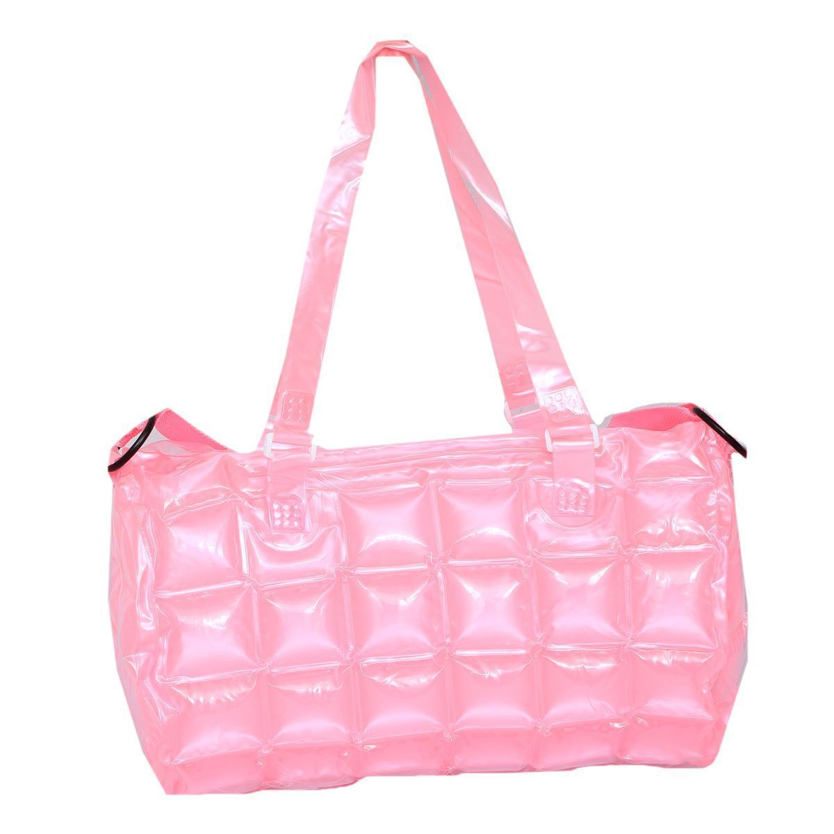 "Kuber Industriesâ""¢ Stylish Shopping Bag,Picnic Bag, Hand Bag in Imported Thick Plastic ,Blow it (Pink) - KI19488"