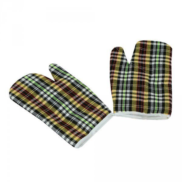 Kuber Industries Cotton Microwave Oven Gloves 18 X 32 CM(Set of 2)(colour might vary according to availability)