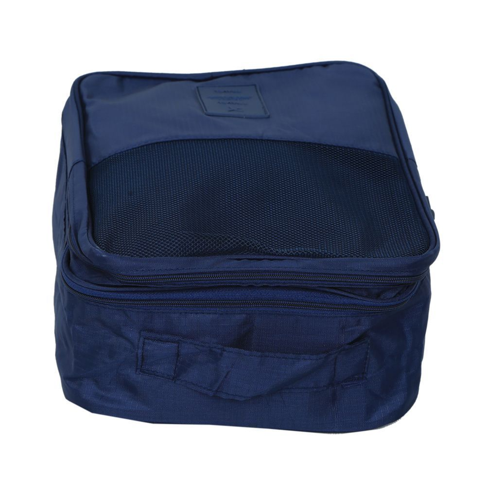 Kuber Industries Travel Waterproof Shoe Organizer, Travelling Orgnaiser, UG Organiser, Multi Purpose Organiser (Navy Blue) - KI3358