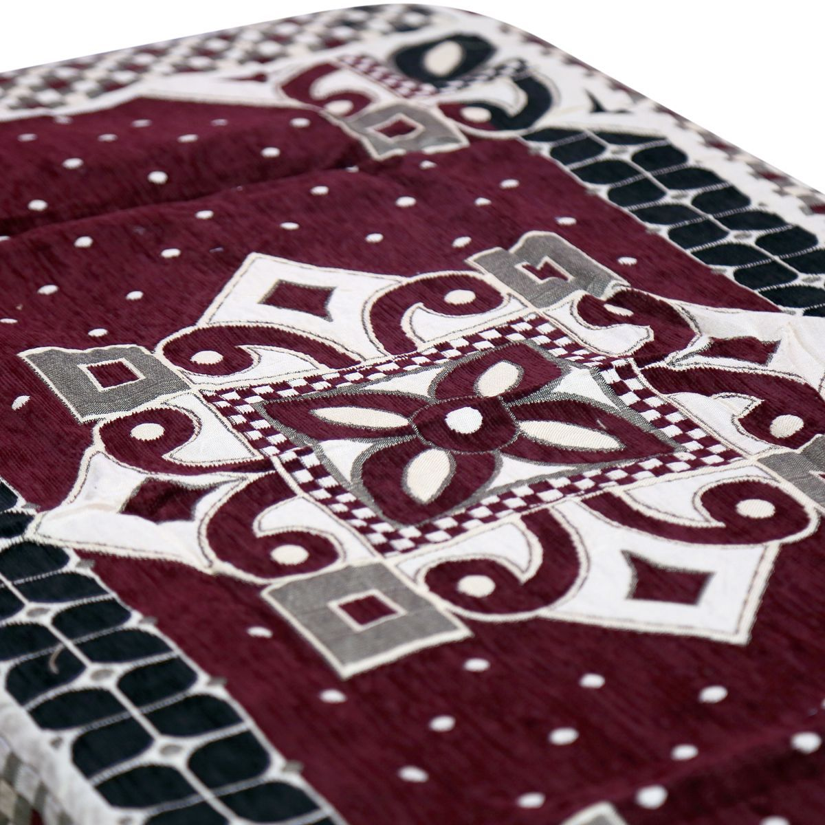 Kuber Industries™ Center Table Cover Maroon Cotton Fabric in Floral Design 40*60 Inches (Exclusive Design)