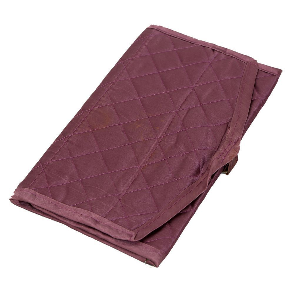 Kuber Industries Foldable Payal kit, Travelling Organiser in Quilted Satin Material (Purple) -KI3253