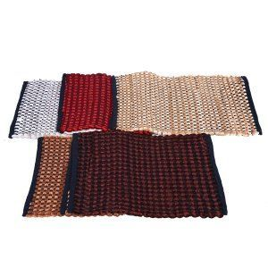 Kuber Industries™ Hand Crafted Style Cotton Blend Door Mat Reversible Set of 5 Pcs (Can be used from both sides) Size-60*38 Cm