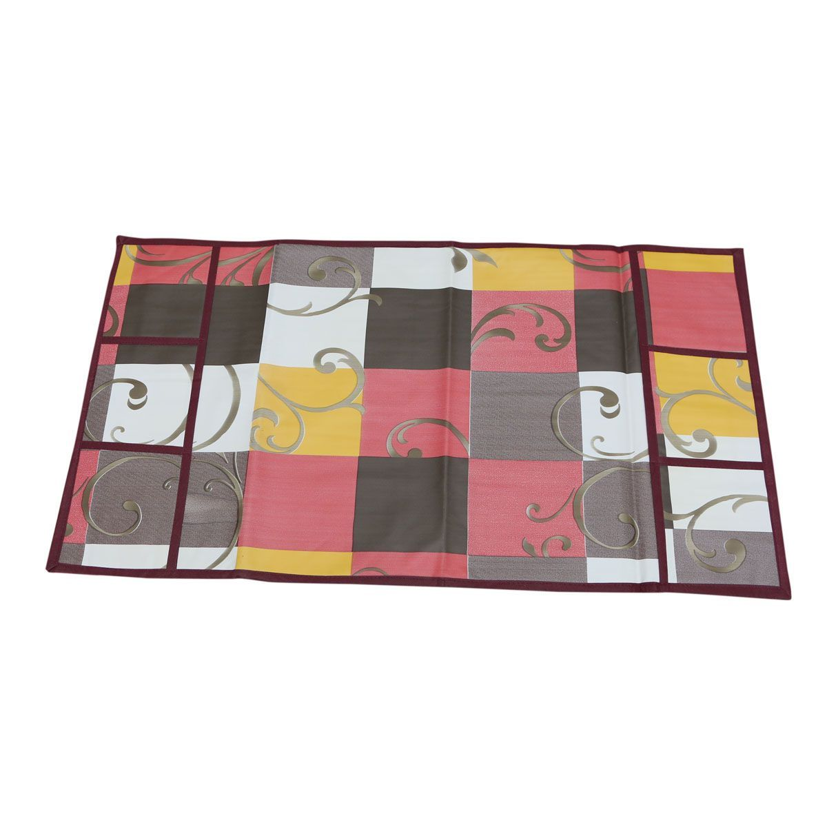 Kuber Industries™ Multi Fridge Top Cover In Waterproof Material (Exclusive Checkered Design) KIC25