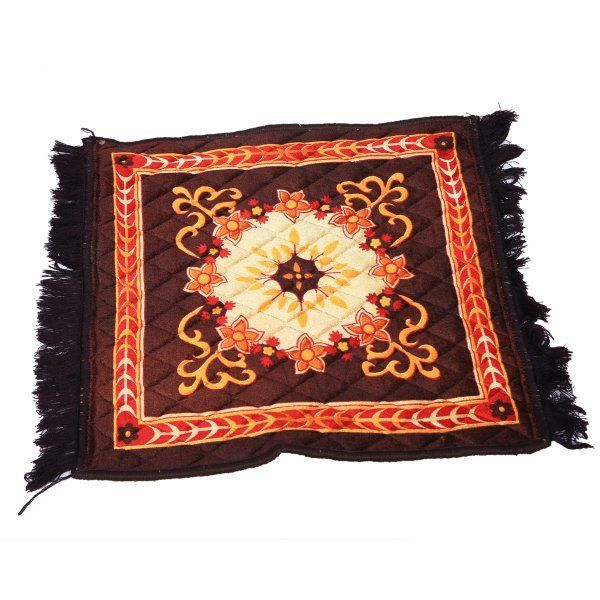Kuber Industries™ Brown Velvet Pooja Aasan, Pooja Mat (2 Ft X 2 Ft)