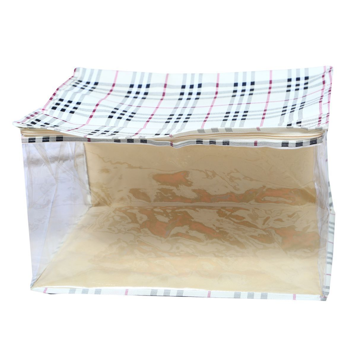 Kuber Industries™ Extra Large Saree Cover,Saree Bag,Regular Cloth Bag, Wardrobe Organiser (Cream) Waterproof Fabric