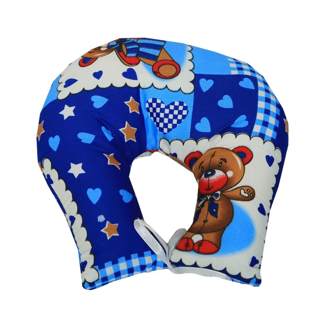 "Kuber Industriesâ""¢ U Shape Feeding & Nursing Baby Neck Pillow - Set of 3 - Color and Print May Vary - KUB384"