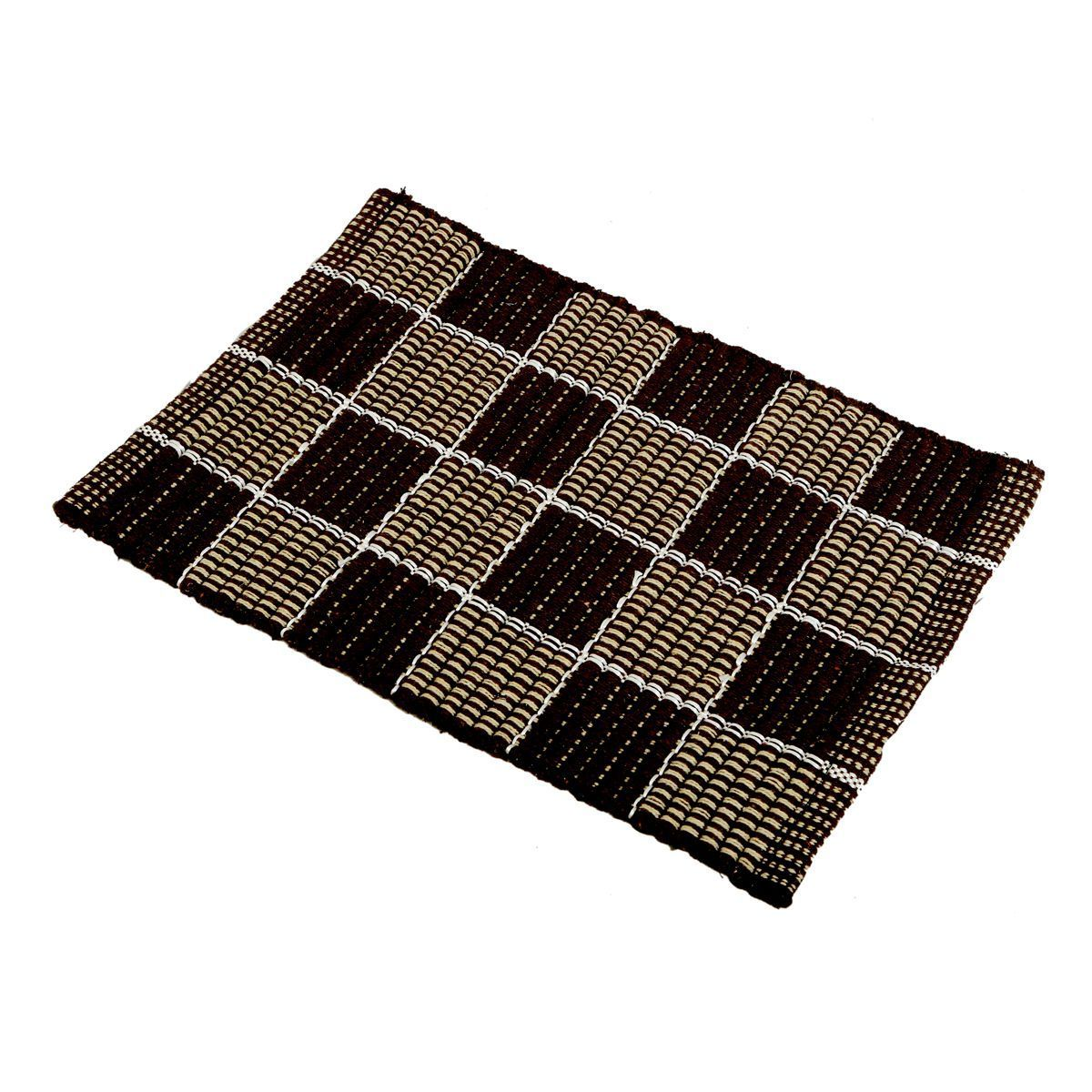 """Kuber Industriesâ""¢ Traditional Style Heavy Cloth Door Mat Set Of 4 Pcs (Export Quality Fabric) KU134 """