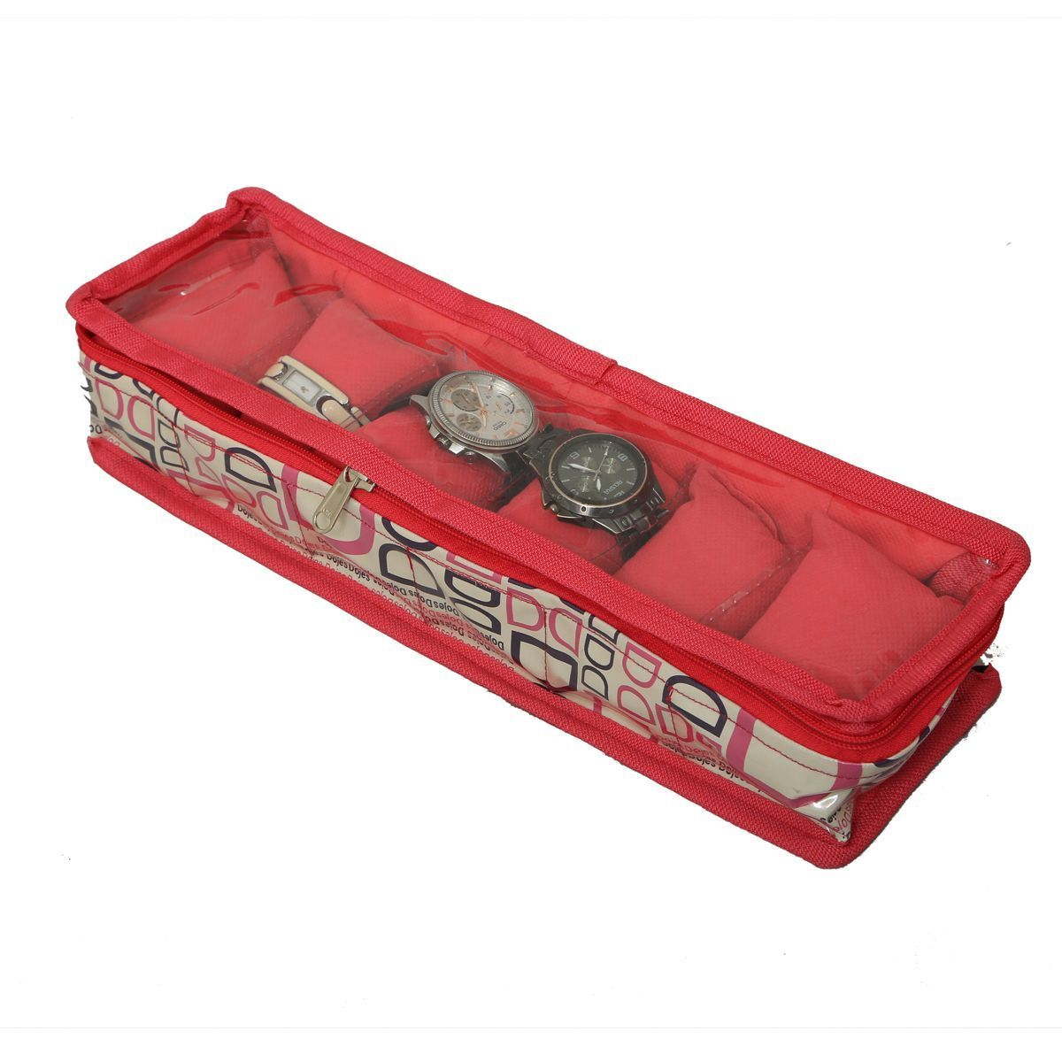 "Kuber Industriesâ""¢ Wrist Watch Case,Watch Cover,Watch Box,Bangle Box In Imported Fabric (Six Roll) KU166"