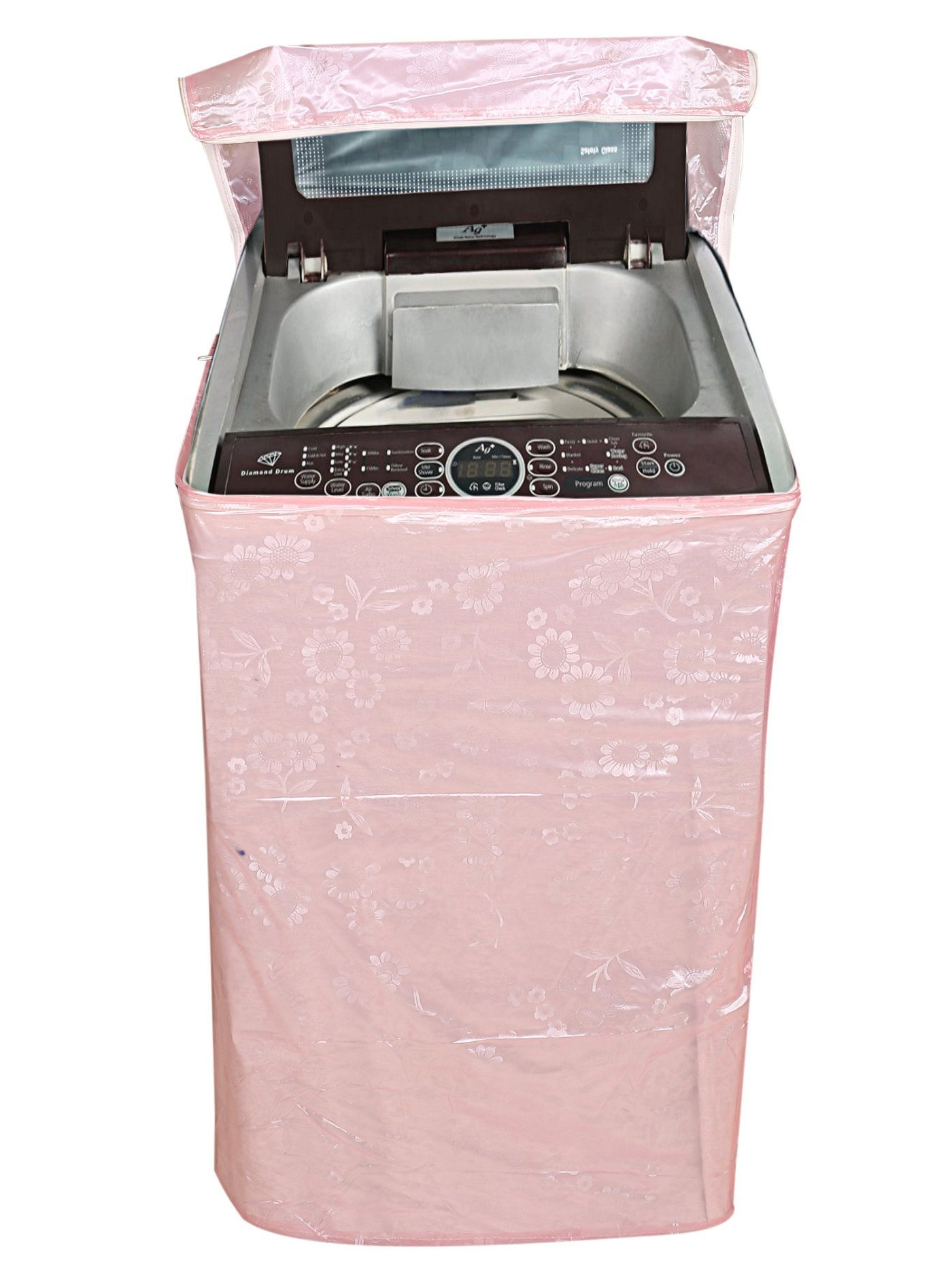 Kuber Industries Top Load Fully Automatic Washing Machine Cover (Light Pink)