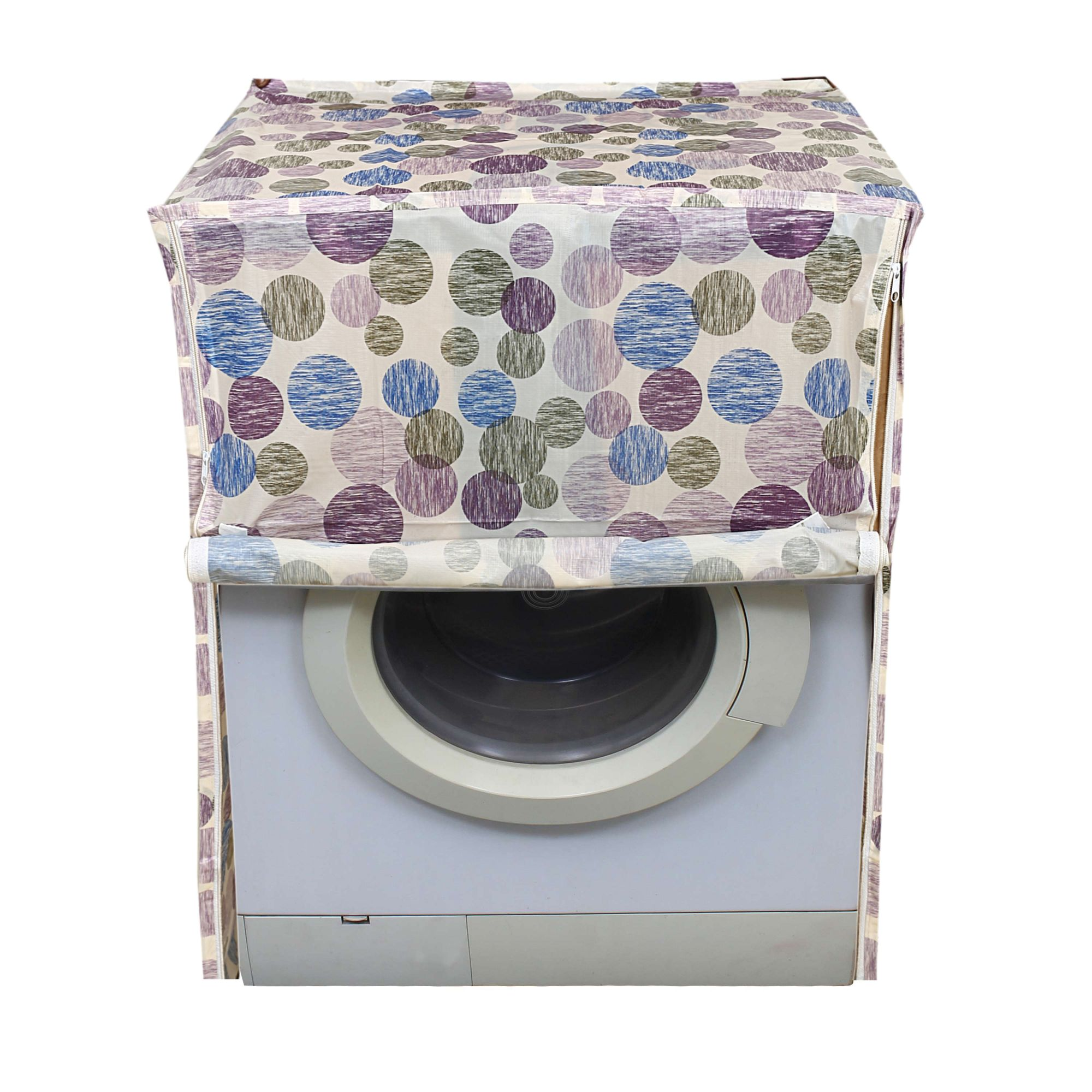Kuber Industries PVC Front Load Fully Automatic Washing Machine Cover (Multi)-CTKTC3871