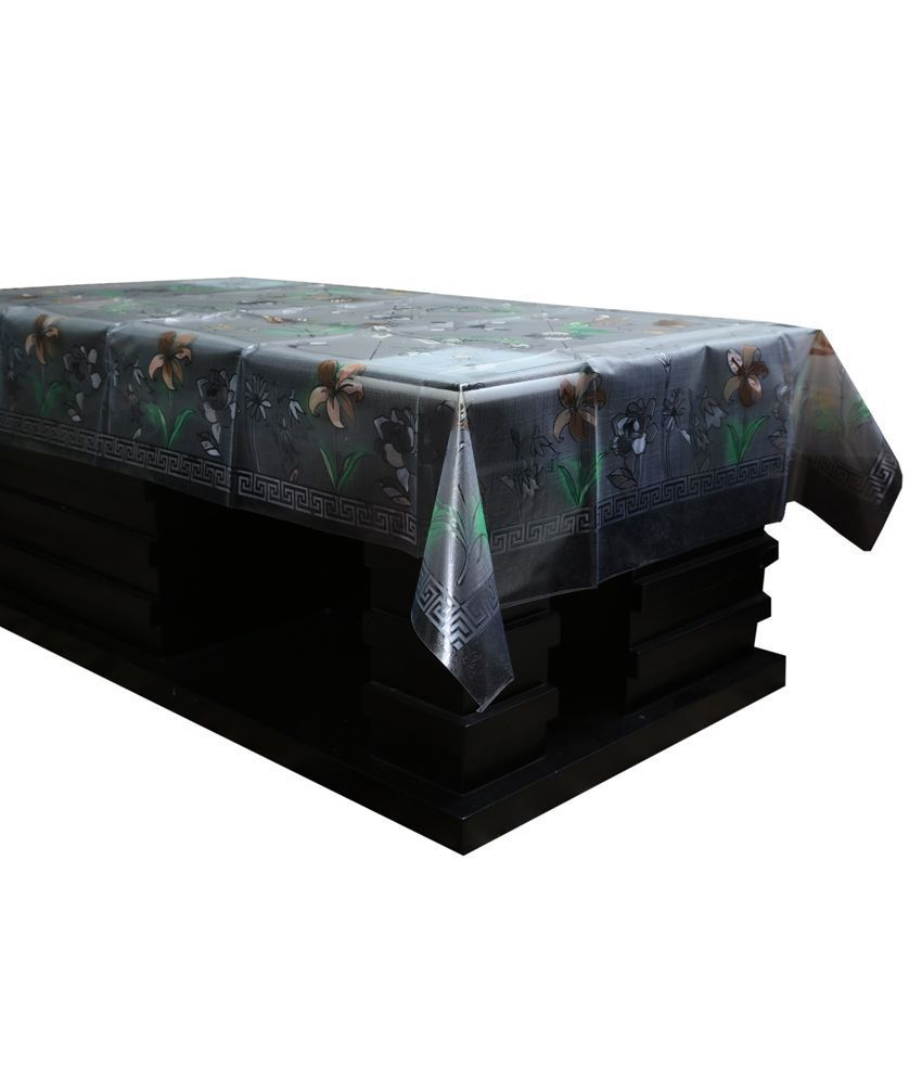 """Kuber Industries Transparent Center Table Cover 4 Seater 40*60 Inches (Imported Self Design) """