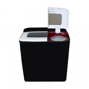 Kuber Industries™ Black Colored Washing machine cover Semi Automatic Top Load -(Suitable For 6 Kg, 6.5 kg & 7 Kg)