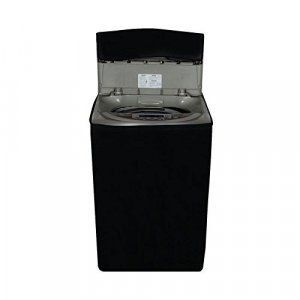 Kuber Industries™ Black Colored Washing machine cover Fully Automatic Top Load -(Suitable For 6 Kg, 6.5 kg & 7 Kg)