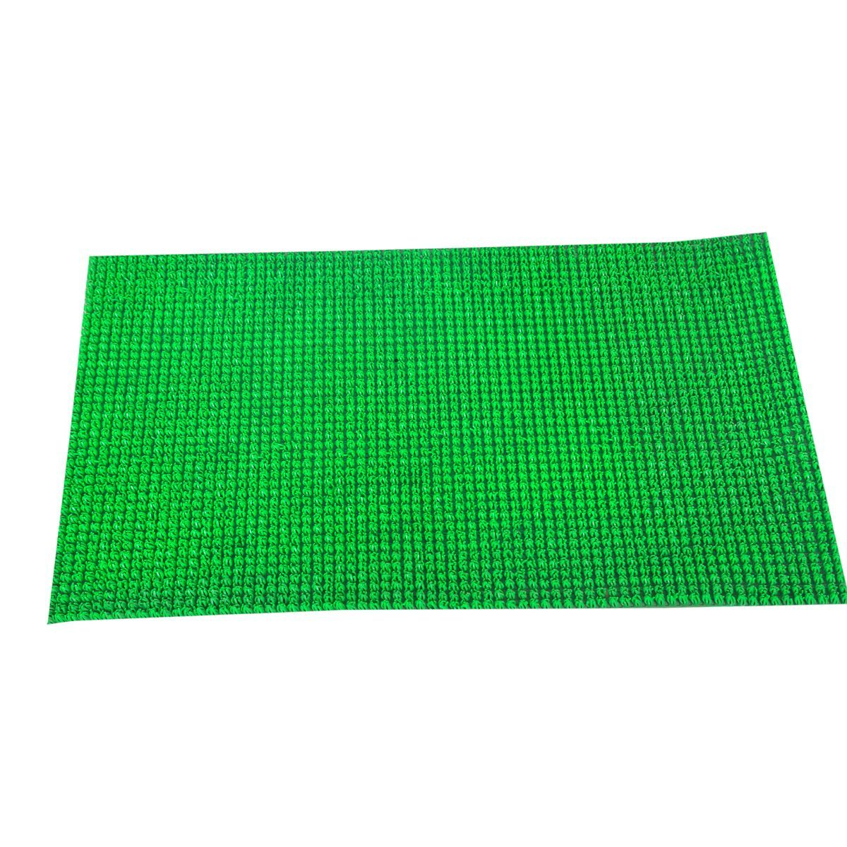 Kuber Industries™ Dirt Rubb Off Clean Footwear PVC Thick Doormat for Offices,Hotel ,Restaurtaurant, Home,Shop Color- Green Size : 60 cm x 38 cm x 1.5 cm
