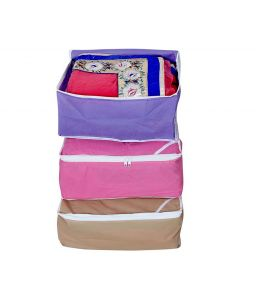 Non Wooven Saree Cover, Set of 3 Pcs