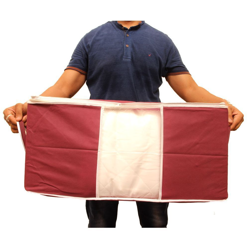 """Kuber Industries Non Woven Underbed Storage Bag, Extra Large Set of 6 Pcs, Maroon Royal Blue """