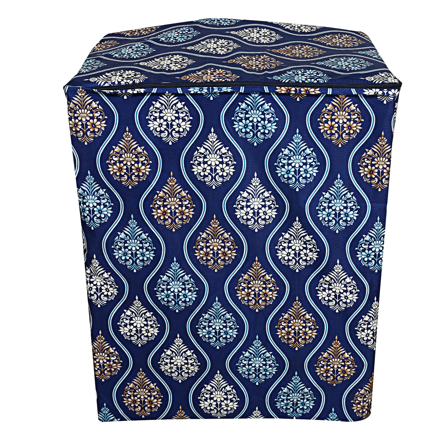 Kuber Industries Cotton Top Load Semi Automatic Washing Machine Cover (Blue)-CTKTC3879