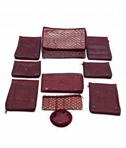 Quilted Brocade Locker Jewellery Kit  12  Pouch