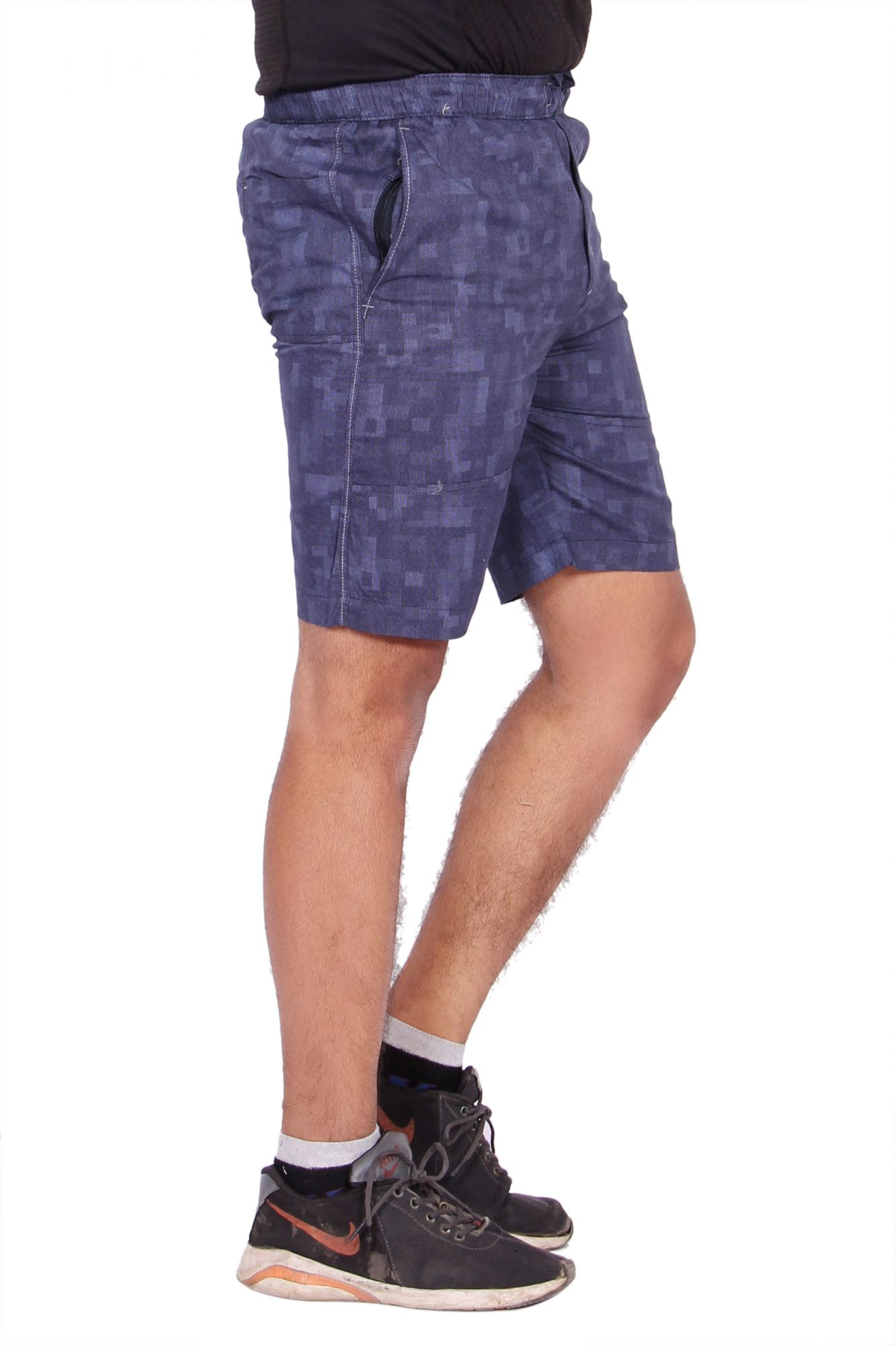 Kuber Industries Cotton Bermuda shorts for men (Blue)