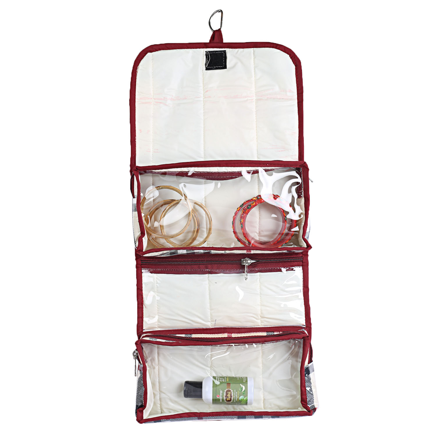 Kuber Industries Rexene 1 Piece Foldable Travelling Organiser (Cream) -CTKTC5331