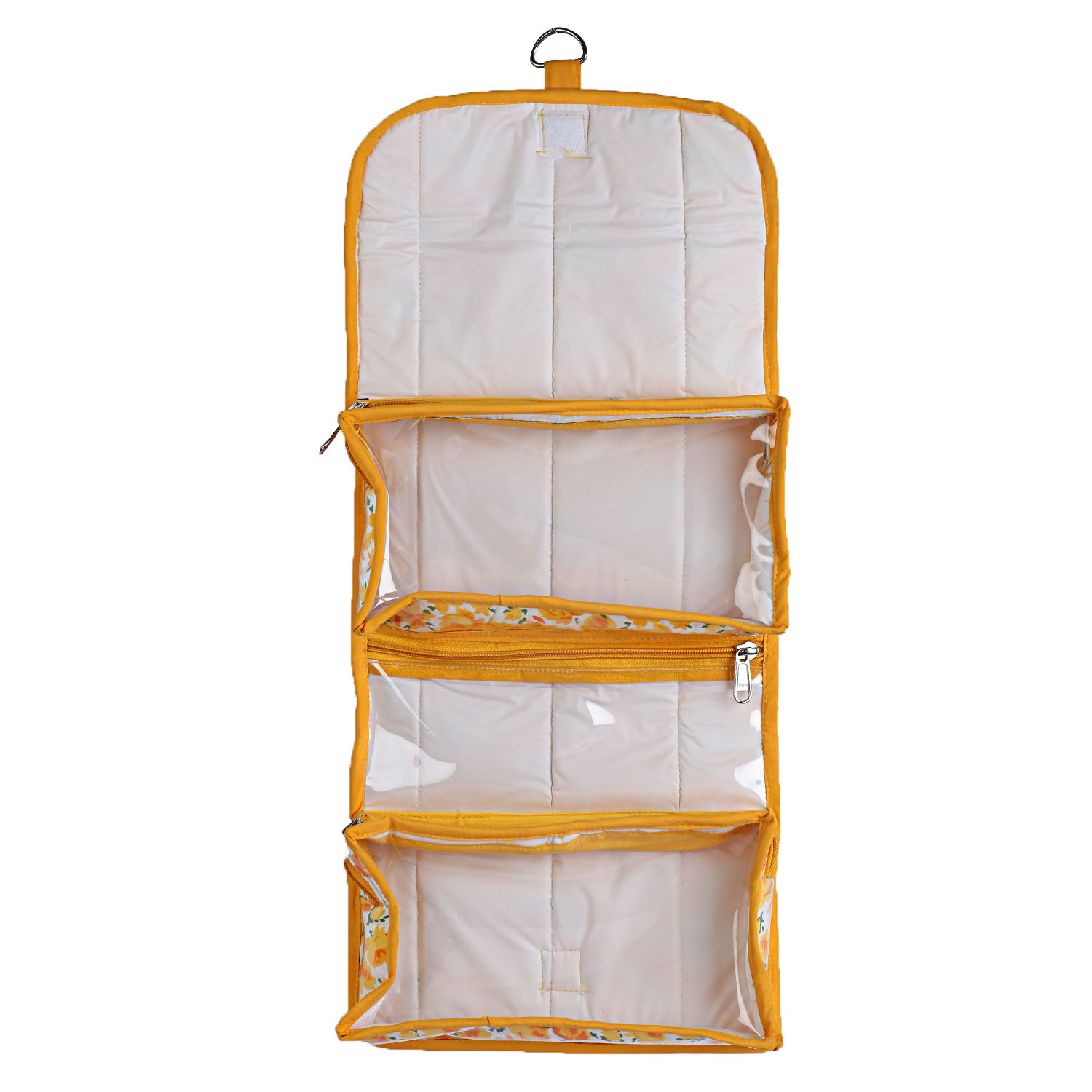 Kuber Industries Rexene 2 Pieces Foldable Travelling Organiser (Yellow & Blue) -CTKTC5348