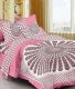 Kuber Industries™ 144 TC Cotton Double Bedsheet with 2 Pillow Covers - Pink (BS30)