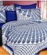 Kuber Industries™ 144 TC Cotton Double Bedsheet with 2 Pillow Covers - Blue (BS31)