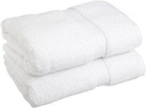 Kuber Industries Cotton Bath Towel Set of 2 Pcs (27*54 Inches White)
