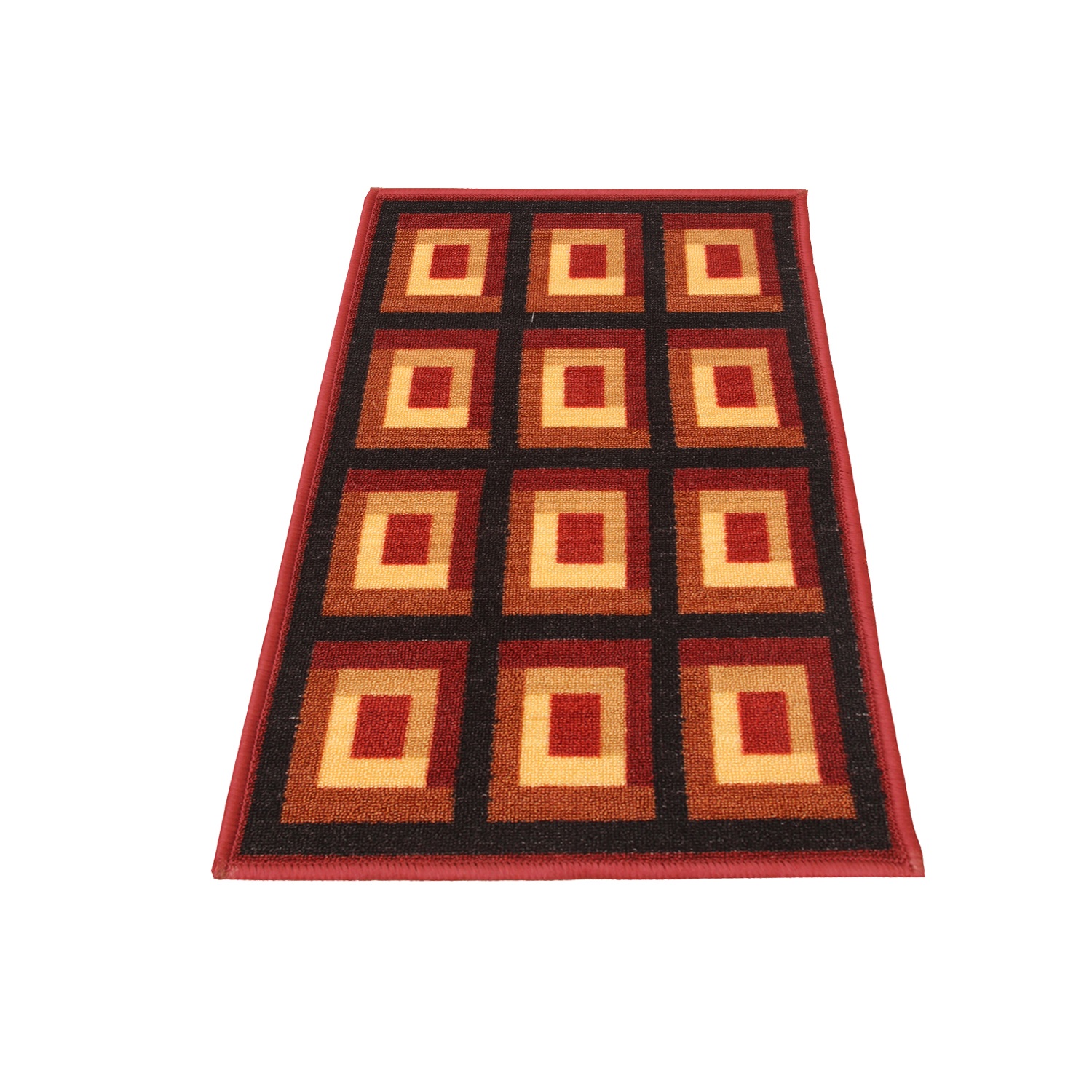 Kuber Industries Cotton Bed Side Runner (Maroon) set of 1 Pc