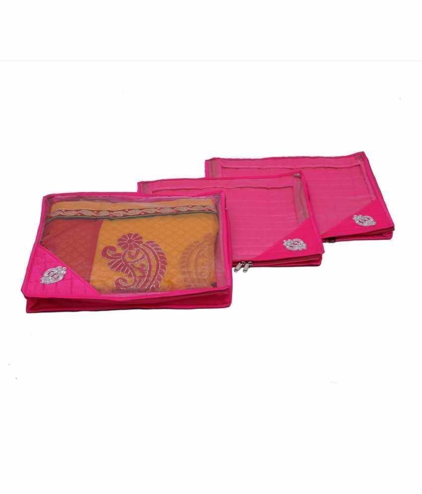 Quilted Saree Cover Set Of 3 Pcs
