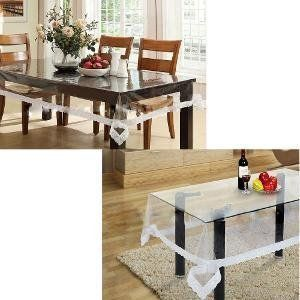 Kuber Industries Combo of Dining & Center Table Cover In Transparent