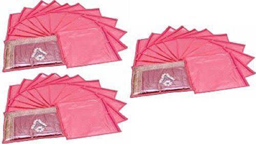 Kuber Industries Single Packing Saree Cover 36 Pcs Set