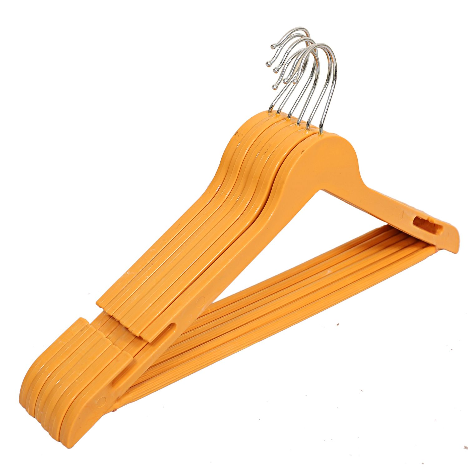 Kuber Industries Plastic Hanger For Suit Set of 18 Pcs,Wooden