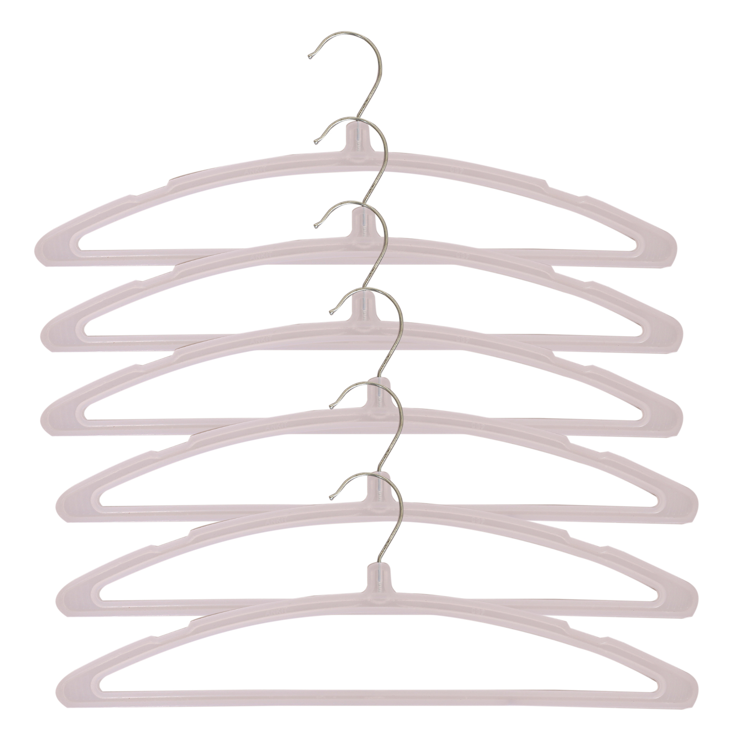 Kuber Industries Plastic Hanger For Suit,Cloth Set of 12 Pcs,White