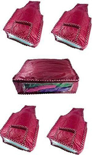 Kuber Industries Blouse Cover 4 Pcs Set & Saree Cover (5 Pcs Set)