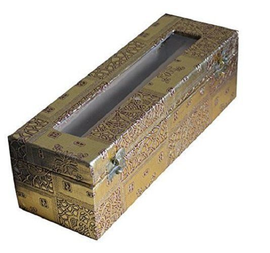 Kuber Industries Single Roll Bangle Box In Coated Hardboard Material (Golden)